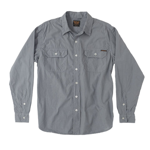 Long Sleeve 2 Pocket Notch Flap Shirt Poplin - Iron