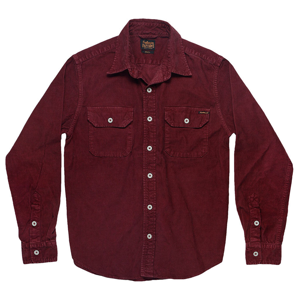 Long Sleeve Notch Flap Shirt Heavyweight Corduroy - Debutante