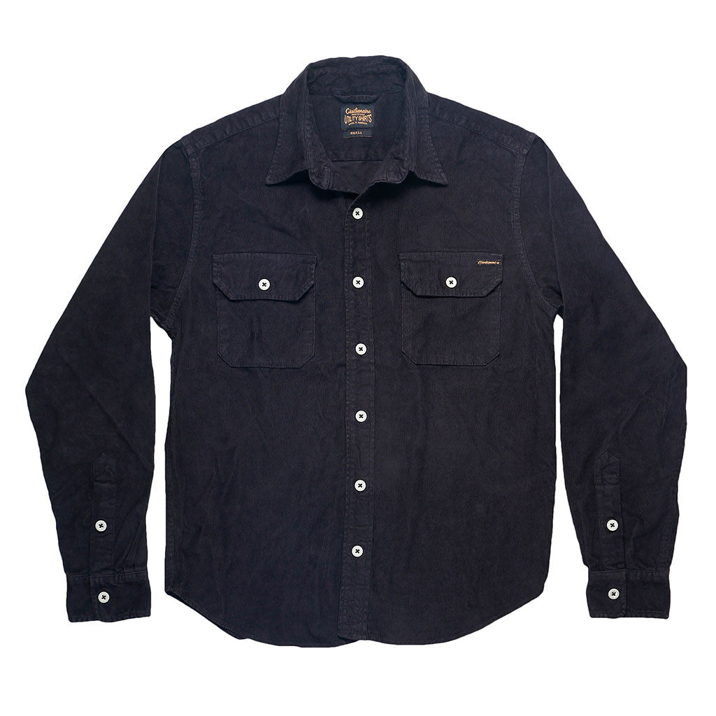 Long Sleeve Notch Flap Shirt Heavyweight Corduroy - Sharp