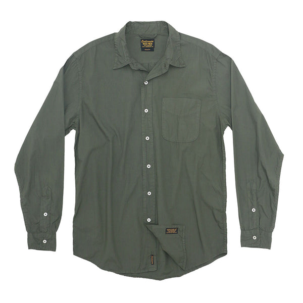 Long Sleeve 1 Pocket Shirt Poplin - OLIVE KHAKI