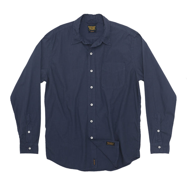 Long Sleeve 1 Pocket Shirt Poplin - Dark Slate Blue