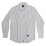 Men's Long Sleeve 1 Pocket Shirt Poplin - White
