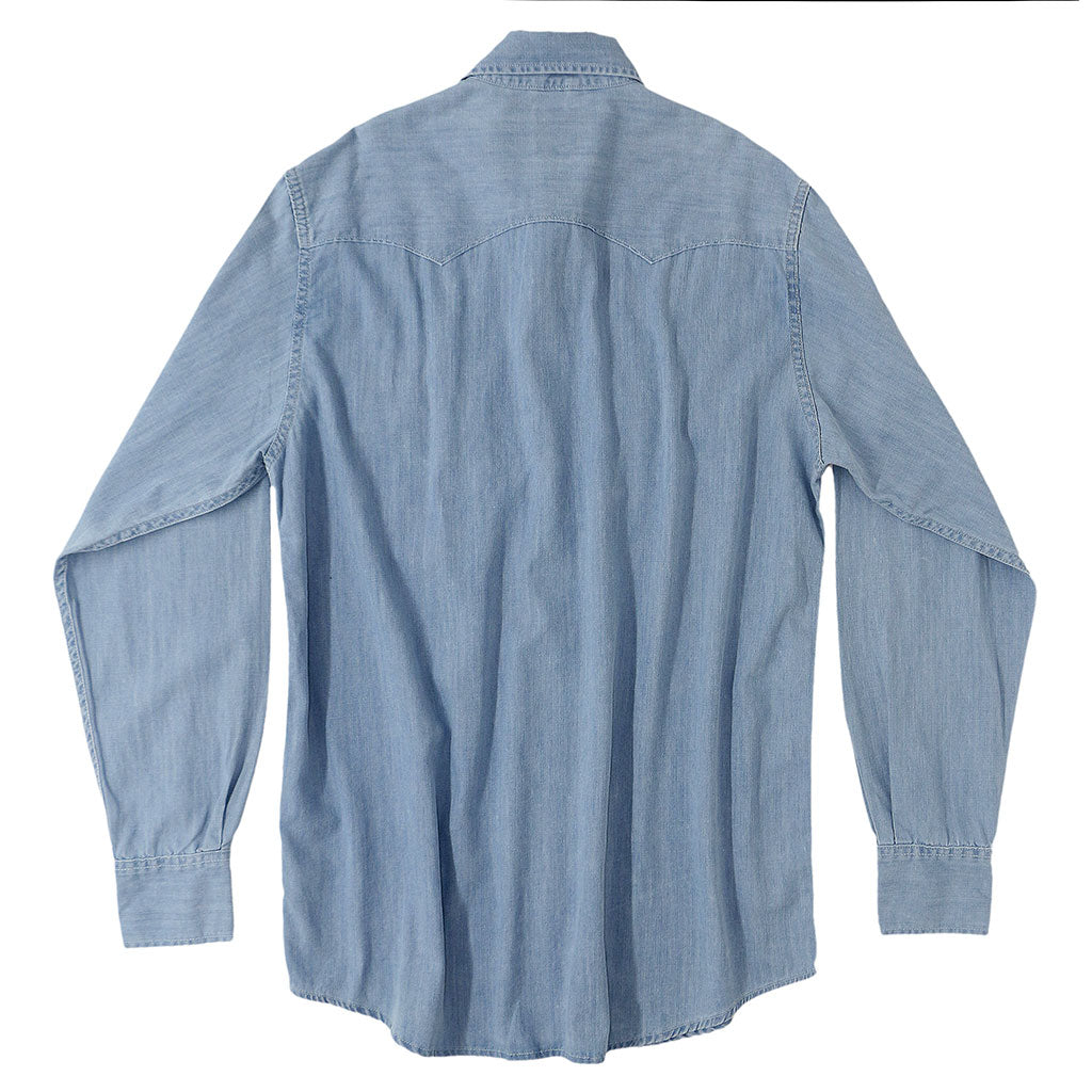 Sawtooth 6.5 Denim Western Shirt - Light Wash