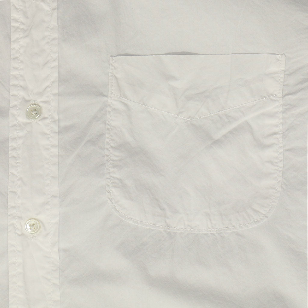 Short Sleeve 1 Pocket Shirt Poplin - White