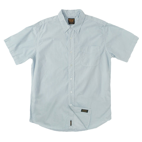 Short Sleeve 1 Pocket Shirt Poplin - Cool Blue Grey