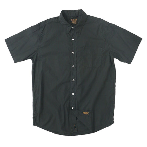 Short Sleeve 1 Pocket Shirt Poplin - Sharp / Black