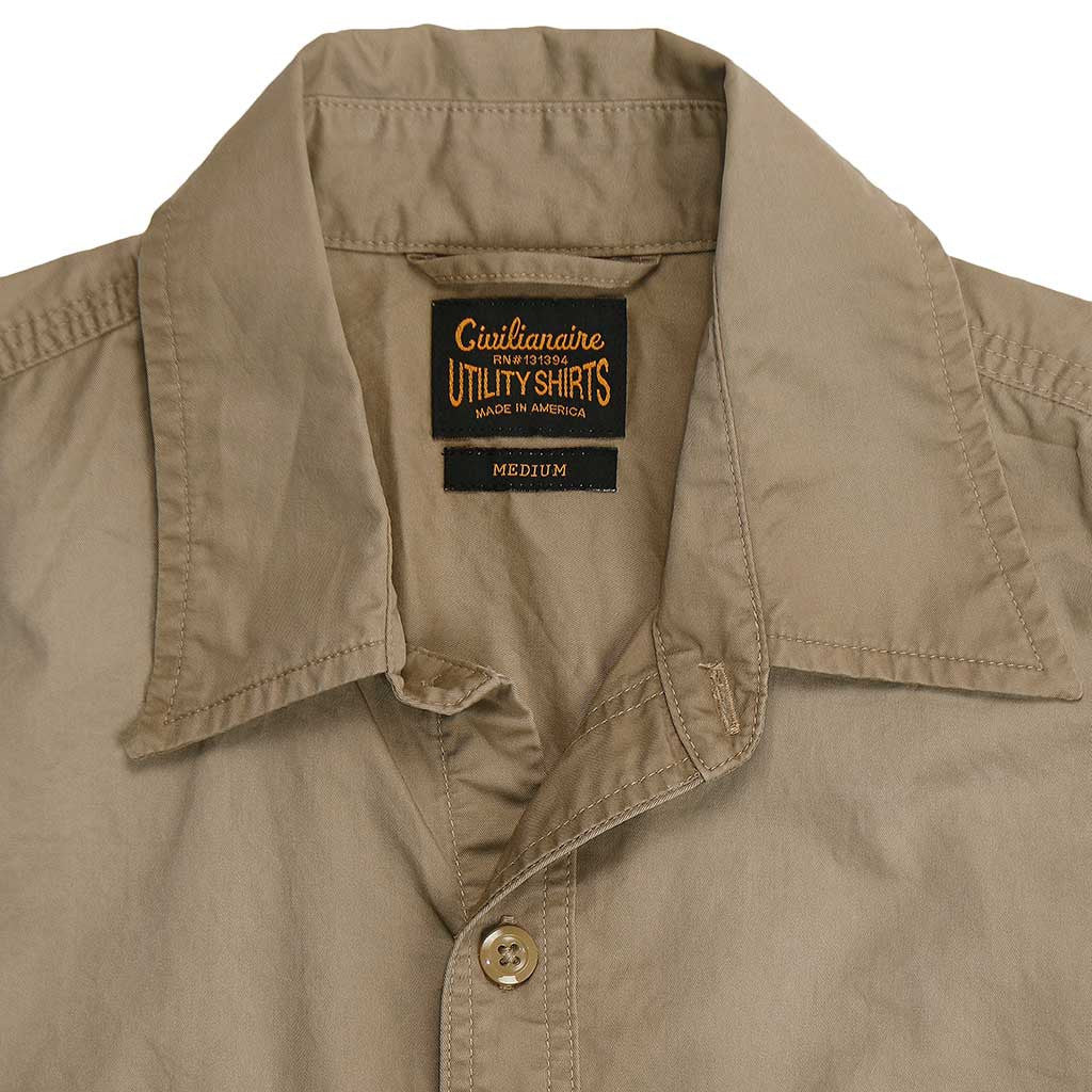 Long Sleeve 2 Pocket Notch Flap Shirt Light Twill - Dark Khaki