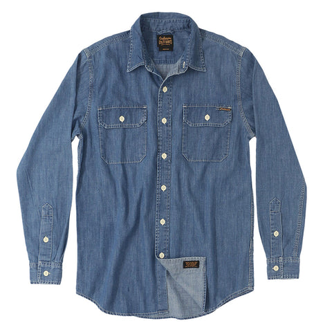 Long Sleeve Notch Flap Shirt 6 oz. Denim - Medium Stone Wash