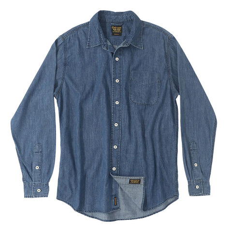 Long Sleeve 1 Pocket Shirt 6.5 oz. Denim - Dark Stone Wash