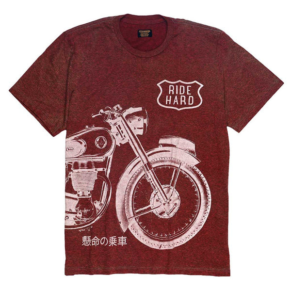 """Ride Hard"" Tee - Berry Red"
