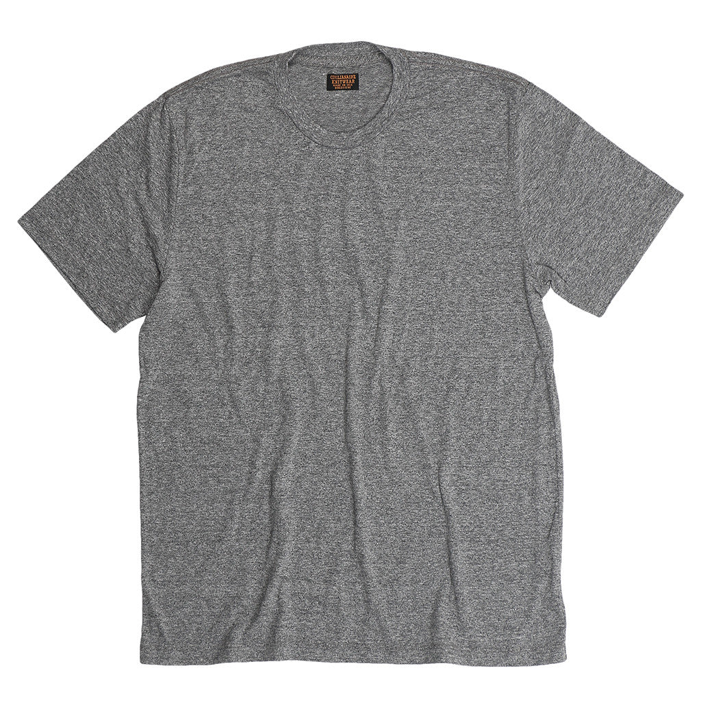 Crew Neck Short Sleeve Tri-Blend Tee - Heather Grey