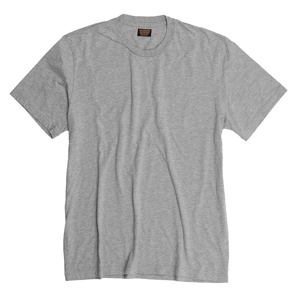 Short Sleeve Crew Neck - Heather Grey