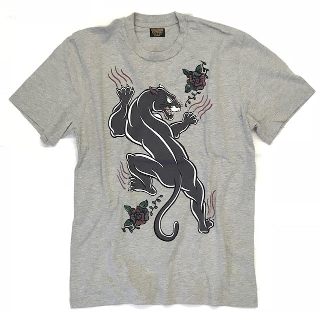 """Panther"" Tee - Slub Heather Grey"