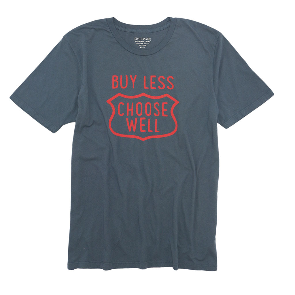 """Buy Less, Choose Well"" Tee - Moon Grey"