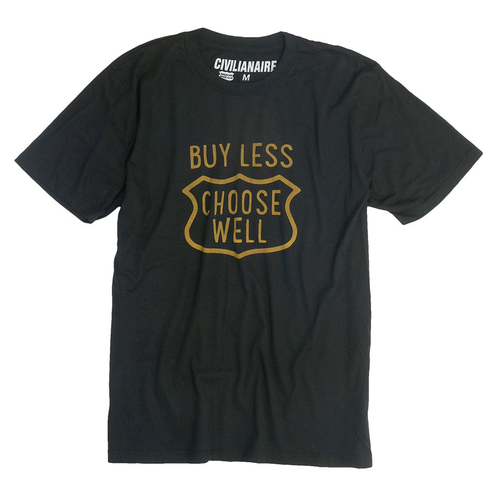 "Men's ""Buy Less, Choose Well"" Tee - Jet Black"