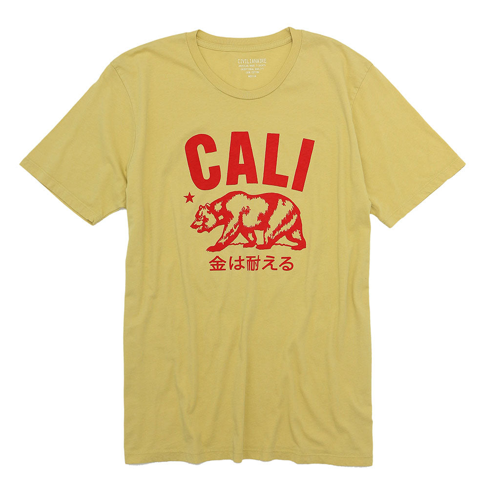"""Don't Mess with Cali"" Short Sleeve Mens Crew Neck Tee - Dijon"