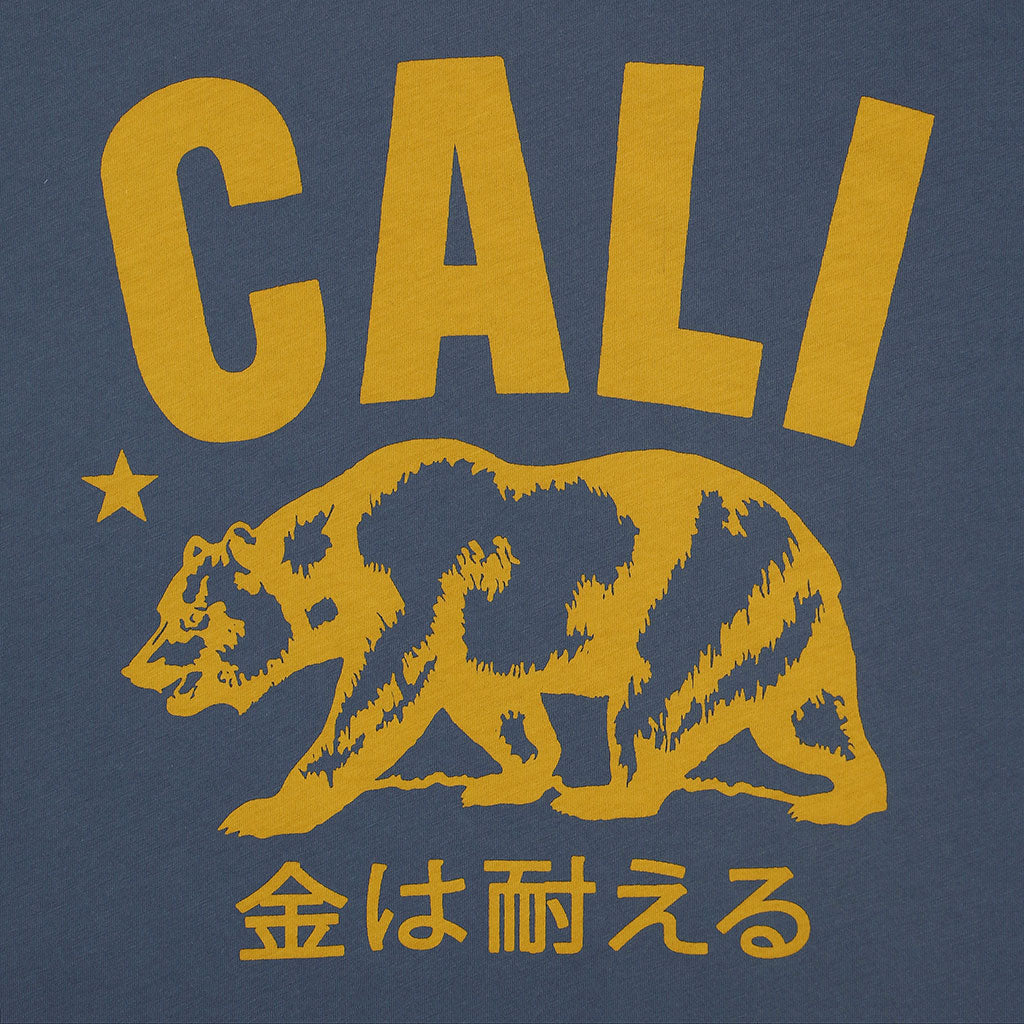 """Don't Mess with Cali"" Short Sleeve Mens Crew Neck Tee - DS BLUE"