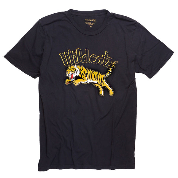 """WILDCATS TIGER"" TEE -JET BLACK"