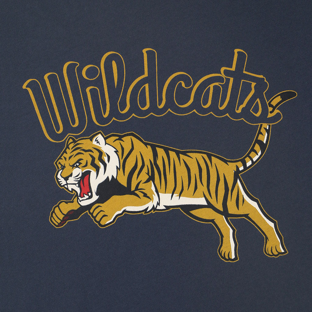 """WILDCATS TIGER"" TEE - DARK SLATE BLUE"