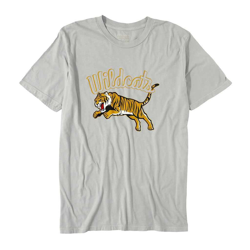 """WILDCATS TIGER"" Short Sleeve Men's Tee- Frost"