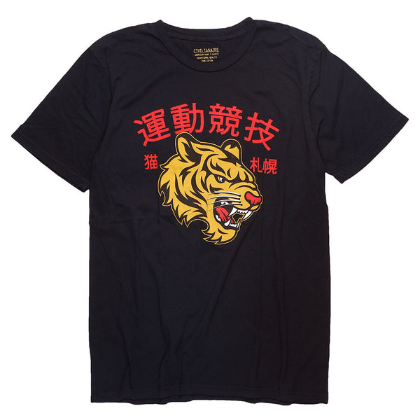 """CHINESE TIGER"" TEE - JET BLACK"