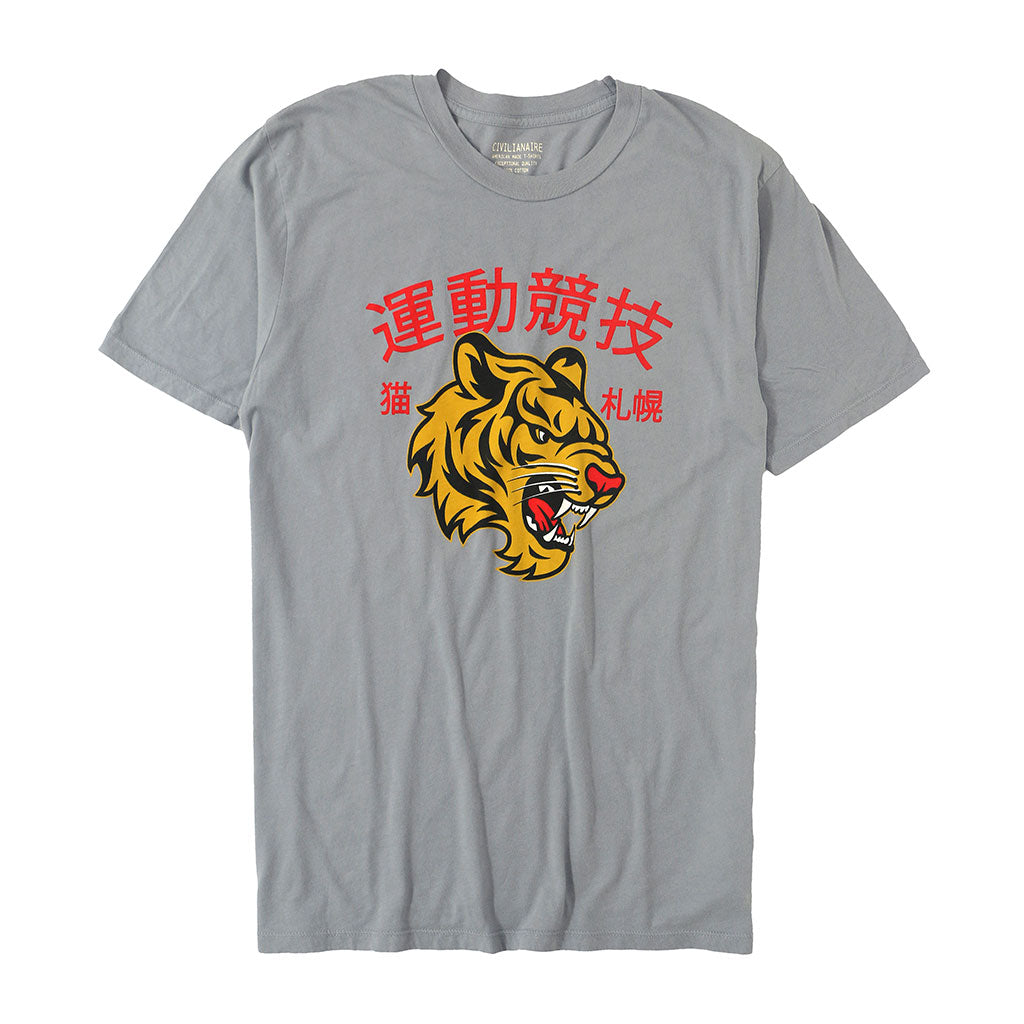 """JAPANESE TIGER"" TEE - IRON"