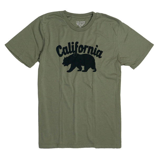 """California Bear"" Tee - Soft Olive"