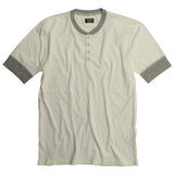 Short Sleeve Banded Henley w/ Tri-Blend Contrast - Natural