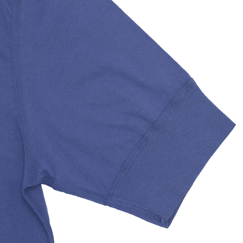 Sleeve Banded Henley - Cotton - PENNANT BLUE
