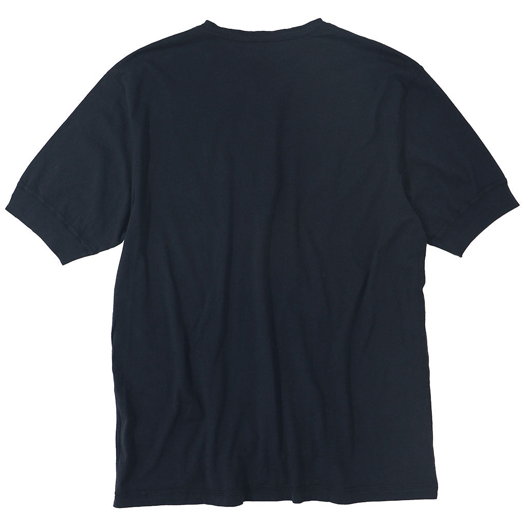 Short Sleeve Banded Henley - Cotton - EZ DK Navy