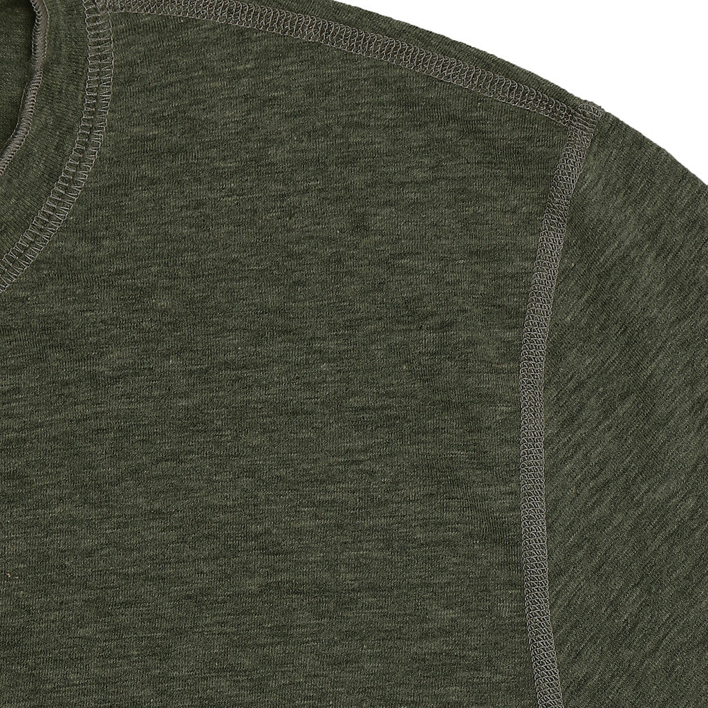 Long Sleeve Banded Henley - Swampy