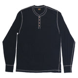 Long Sleeve Banded Henley - EZ Dark Navy