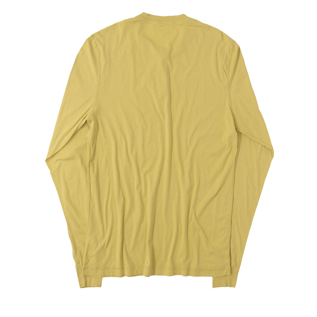 Long Sleeve Banded Henley - Cotton - Dijon