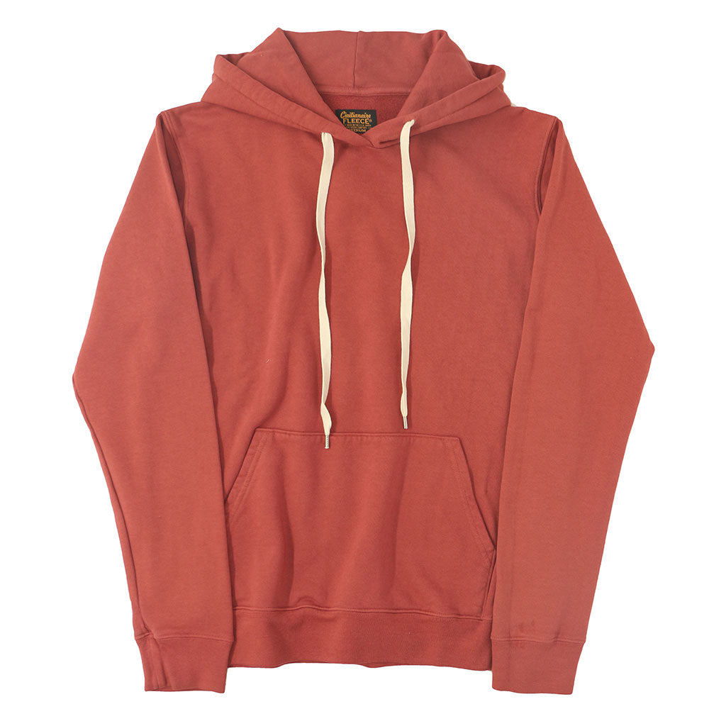Men's Fleece Pullover Hoodie - Old Red