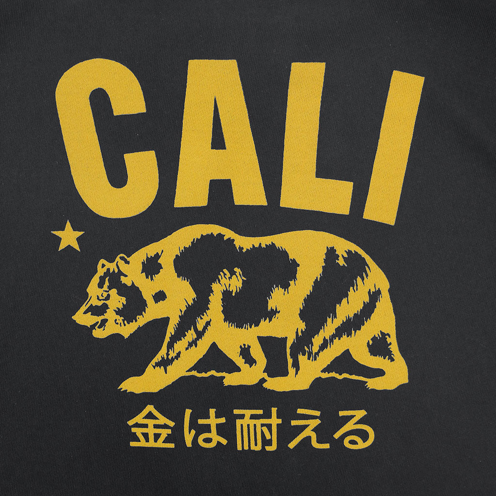 """Don't mess with Cali"" Men's Fleece Pullover Hoodie - Jet Black"