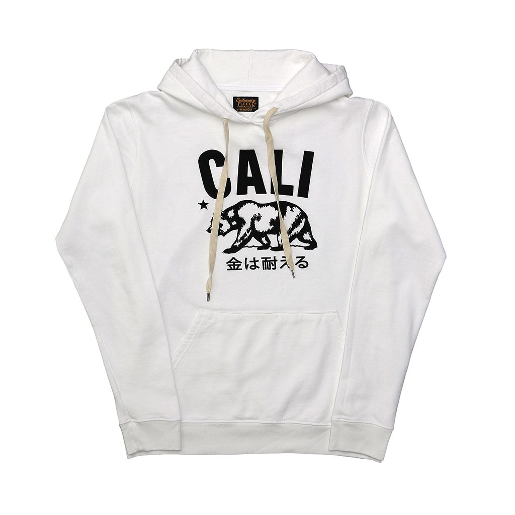 """Don't mess with Cali"" Men's Fleece Pullover Hoodie - Antique White"