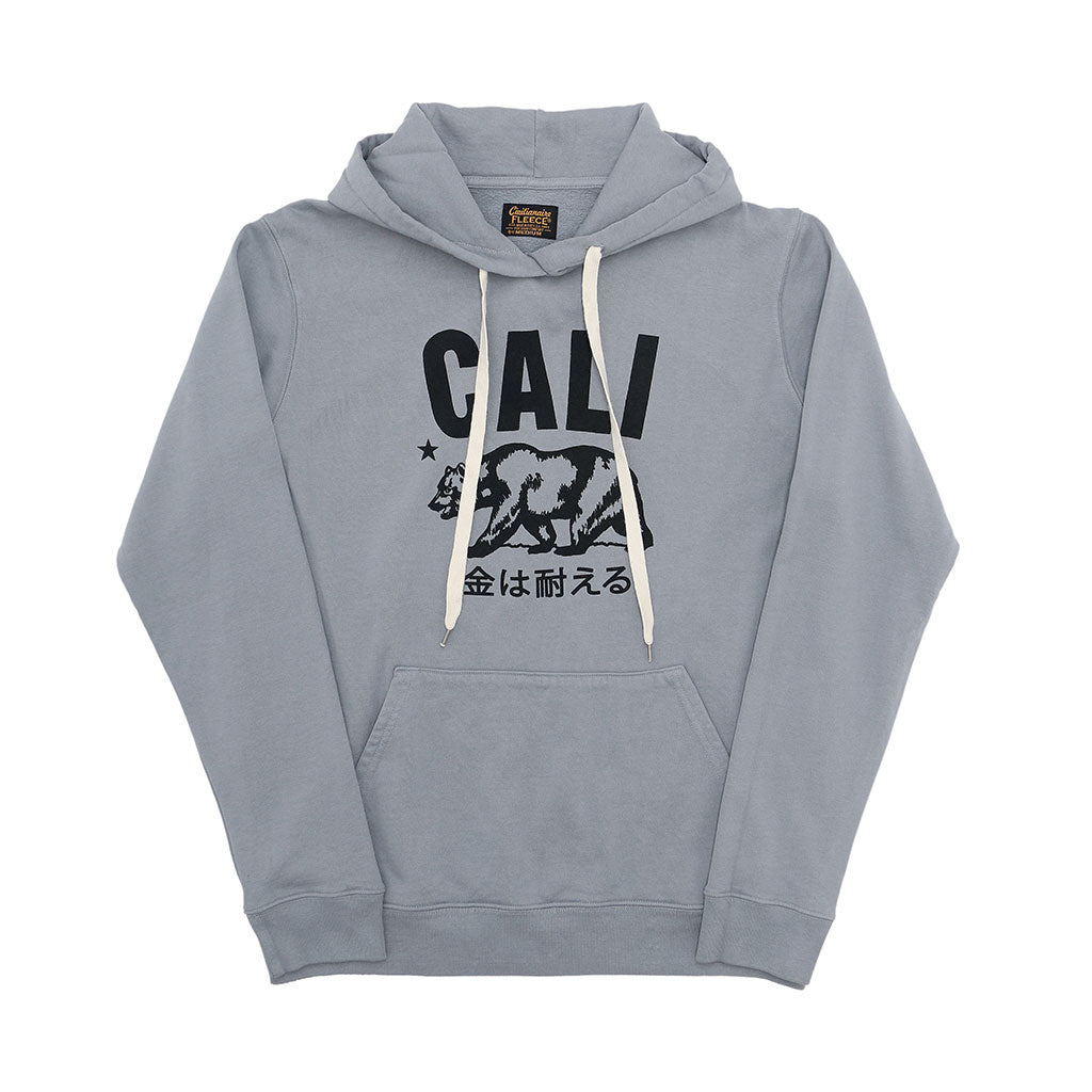 """Don't mess with Cali"" Men's Fleece Pullover Hoodie - Iron"