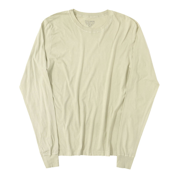 Long Sleeve Crew Neck Cotton Tee - Holiday #1032
