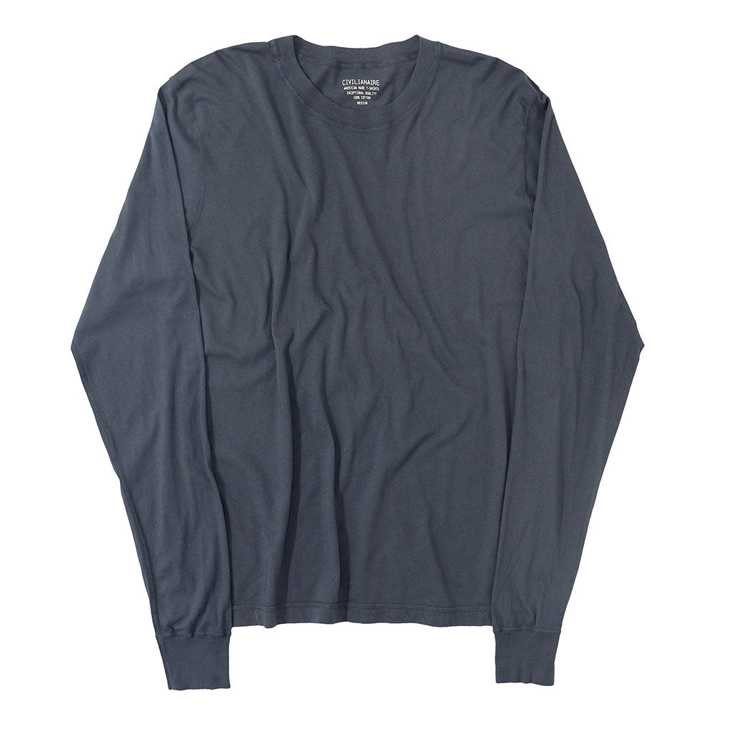 Long Sleeve Crew Neck Cotton Tee - MOON #9012