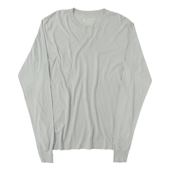 Long Sleeve Crew Neck Cotton Tee - Frost #9051