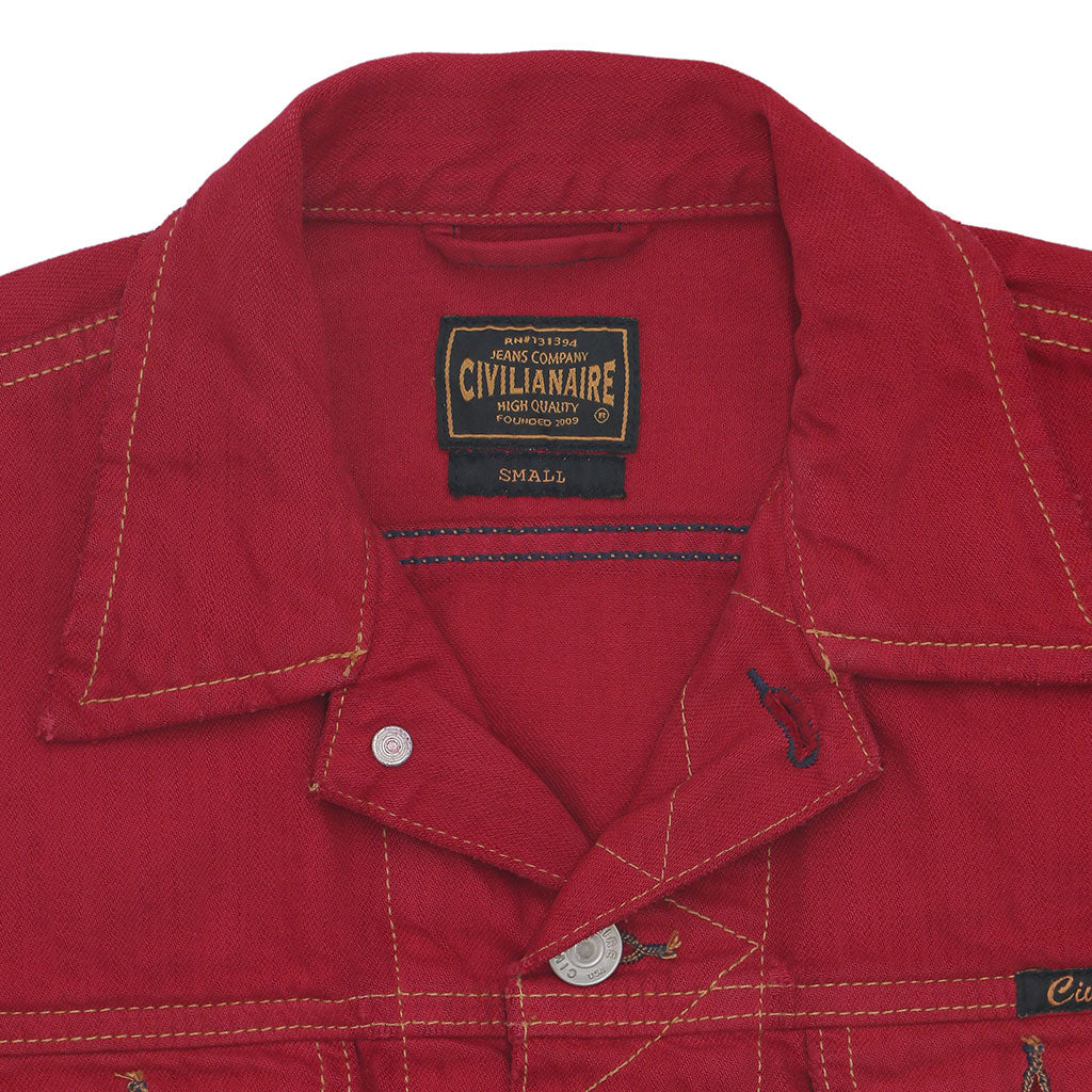Pocket 12.4 oz Denim Ranch Jacket - Red Memphis Wash
