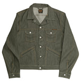 Men's 5 Pocket 13.5 oz Gold Selvage Denim Ranch Jacket - Olive