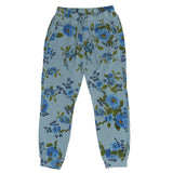 Women's Drawstring Waist Slant Pocket Supima Cotton Fleece Cropped Jogger - Blue Rose Chambray