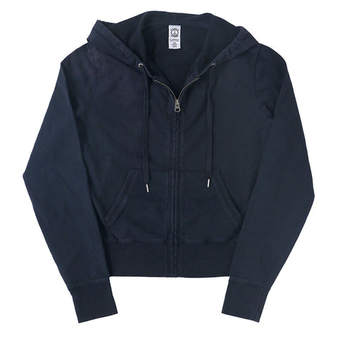 Peace Store Women's  Zip Hooded Sweatshirt - EZ DARK NAVY