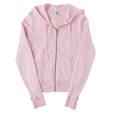 Peace Store Women's  Zip Hooded Sweatshirt - PINK CLOVER