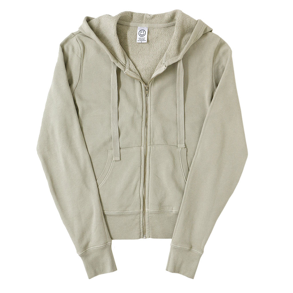 Peace Store Women's Zip Hooded Sweatshirt - HAY