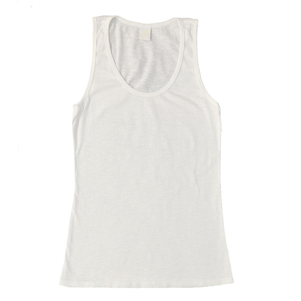 Peace Store Cotton Tank Top  - WHITE