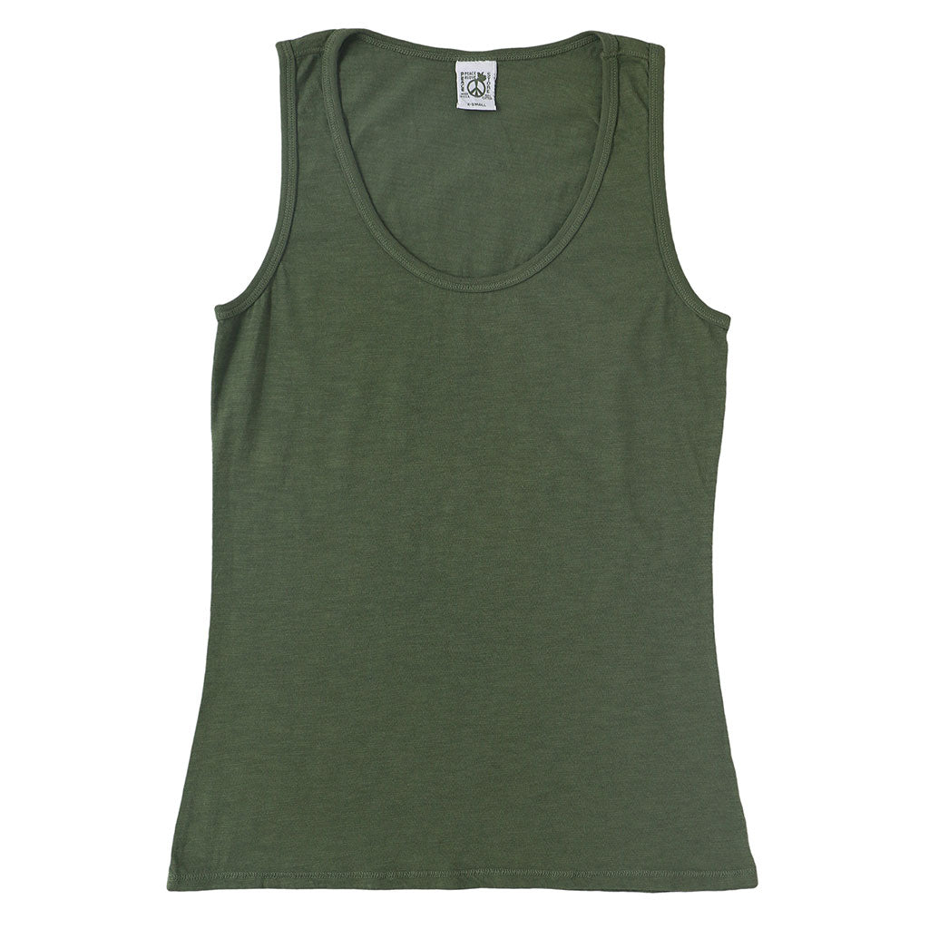 Peace Store Cotton Tank Top  - OLD OLIVE