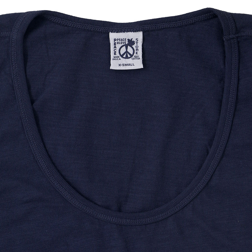 Peace Store Cotton Tank Top  - DARK SLATE BLUE