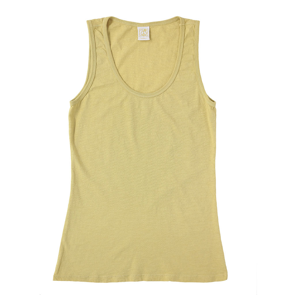 Peace Store Cotton Tank Top  - DIJON